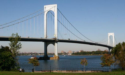 Whitestone Bridge without trusses